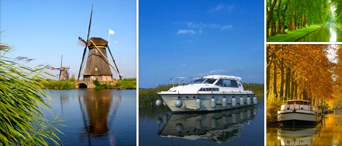 Hausboote mieten in Deutschland, Frankreich, Holland und Irland